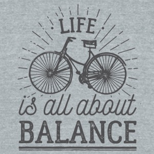 bike balance - Unisex Tri-Blend T-Shirt by American Apparel