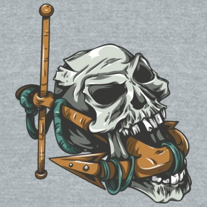 skull_with_anchor - Unisex Tri-Blend T-Shirt by American Apparel
