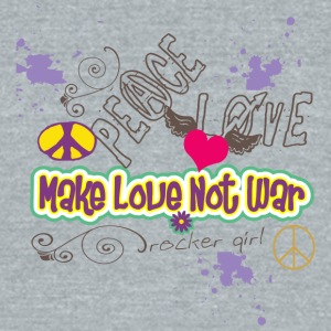 MAKE LOVE NOT War - Unisex Tri-Blend T-Shirt by American Apparel