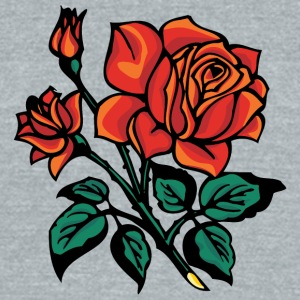 red_roses - Unisex Tri-Blend T-Shirt by American Apparel