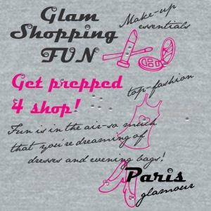 Paris glamour - Unisex Tri-Blend T-Shirt by American Apparel