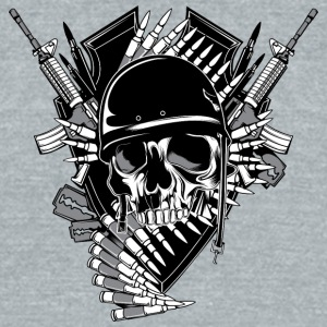 soldier_skull - Unisex Tri-Blend T-Shirt by American Apparel