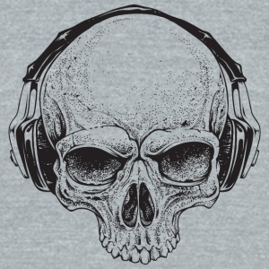 Skull_with_Headphones - Unisex Tri-Blend T-Shirt by American Apparel