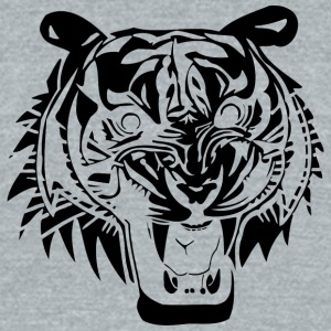 angry_tiger_head_black - Unisex Tri-Blend T-Shirt by American Apparel