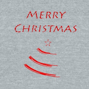 Merry Christmas with a Christmas Tree - Unisex Tri-Blend T-Shirt by American Apparel