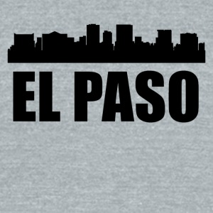 El Paso TX Skyline - Unisex Tri-Blend T-Shirt by American Apparel