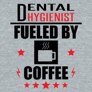 Dental Hygienist Fueled By Coffee - Unisex Tri-Blend T-Shirt by American Apparel