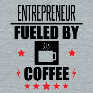 Entrepreneur Fueled By Coffee - Unisex Tri-Blend T-Shirt by American Apparel