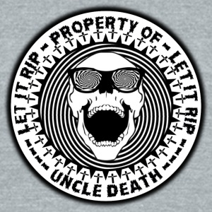 Uncle Death Property Of Let It RIP Parody - Unisex Tri-Blend T-Shirt by American Apparel