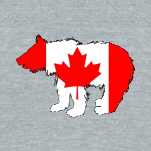 Canadian Flag - Bear Cub - Unisex Tri-Blend T-Shirt by American Apparel