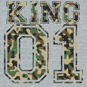 King_01_camo_2 - Unisex Tri-Blend T-Shirt by American Apparel