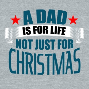 Dad on Christmas - Unisex Tri-Blend T-Shirt by American Apparel