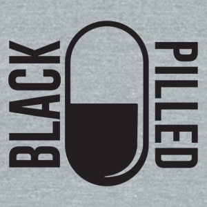 BlackPilled.com Logo Black - Unisex Tri-Blend T-Shirt by American Apparel