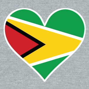Guyanese Flag Heart - Unisex Tri-Blend T-Shirt by American Apparel