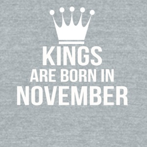 kings are born in november - Unisex Tri-Blend T-Shirt by American Apparel