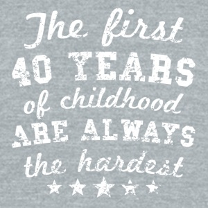 40 Years Of Childhood 40th Birthday - Unisex Tri-Blend T-Shirt by American Apparel