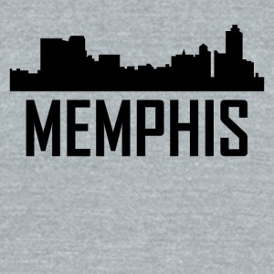 Memphis Tennessee City Skyline - Unisex Tri-Blend T-Shirt by American Apparel