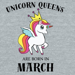 UNICORN QUEENS BORN IN MARCH - Unisex Tri-Blend T-Shirt by American Apparel