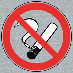 World no Tobacco Day no Smoking - Unisex Tri-Blend T-Shirt by American Apparel