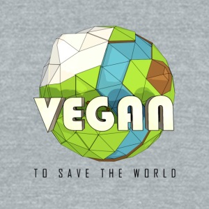 Vegan To Save the World - Unisex Tri-Blend T-Shirt by American Apparel
