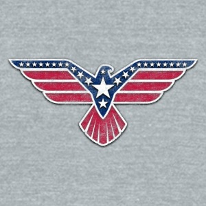 4th of July Eagle independence day celebration - Unisex Tri-Blend T-Shirt by American Apparel