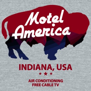 Motel Of America - Unisex Tri-Blend T-Shirt by American Apparel