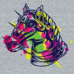 kNIGH HORSE COLOR - Unisex Tri-Blend T-Shirt by American Apparel