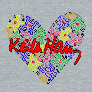 Keith Haring Love Art - Unisex Tri-Blend T-Shirt by American Apparel