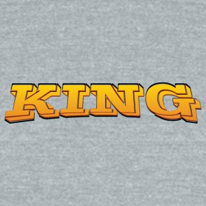 King - Unisex Tri-Blend T-Shirt by American Apparel