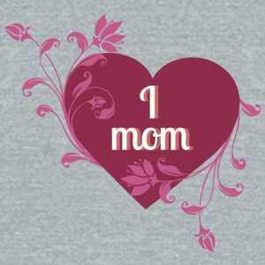 i_love_mom_red_heart - Unisex Tri-Blend T-Shirt by American Apparel