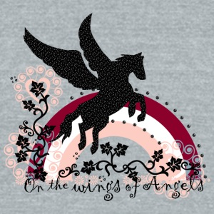 on_the_wings_of_angels - Unisex Tri-Blend T-Shirt by American Apparel