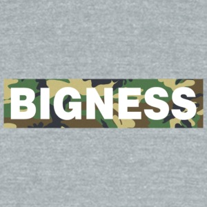 BIGNESS Camo - Unisex Tri-Blend T-Shirt by American Apparel