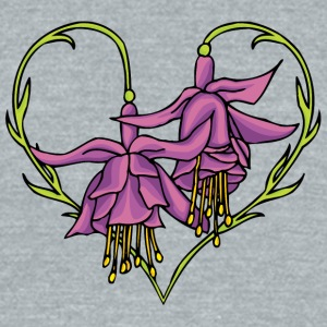 hanging_flower_and_heart - Unisex Tri-Blend T-Shirt by American Apparel