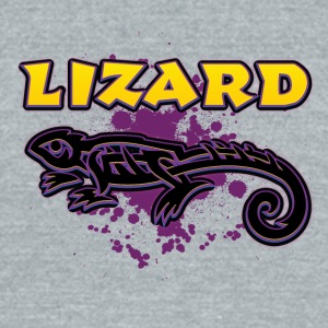 Lizard_with_text_4 - Unisex Tri-Blend T-Shirt by American Apparel