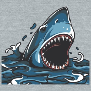 shark_in_ocean - Unisex Tri-Blend T-Shirt by American Apparel