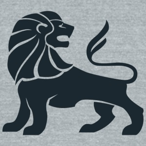 lion_looking_back - Unisex Tri-Blend T-Shirt by American Apparel