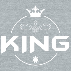 King with crown - Unisex Tri-Blend T-Shirt by American Apparel