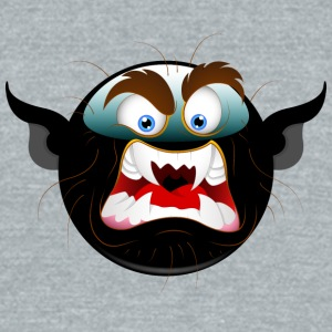 black_dracula_face - Unisex Tri-Blend T-Shirt by American Apparel
