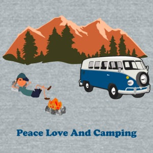 Peace Love Camp - Unisex Tri-Blend T-Shirt by American Apparel