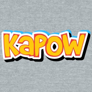 kapow - Unisex Tri-Blend T-Shirt by American Apparel