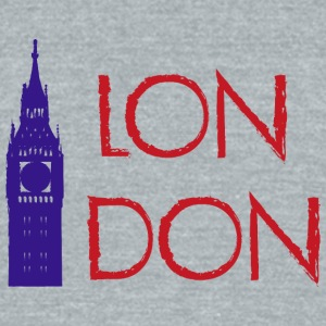 London - Unisex Tri-Blend T-Shirt by American Apparel