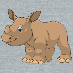 animal-baby-rhino-wildlife - Unisex Tri-Blend T-Shirt by American Apparel