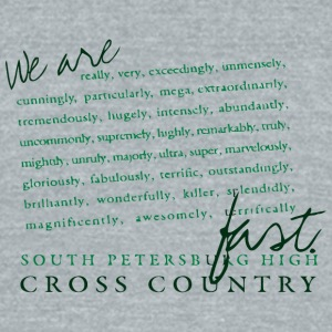 SOUTH PETERSBURG HIGH CROSS COUNTRY - Unisex Tri-Blend T-Shirt by American Apparel