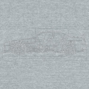 Skyline GT-R R34 Blueprint - Unisex Tri-Blend T-Shirt by American Apparel