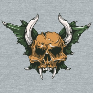 demon_skull - Unisex Tri-Blend T-Shirt by American Apparel
