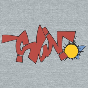 sun_2_graffiti - Unisex Tri-Blend T-Shirt by American Apparel