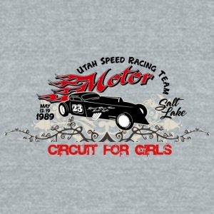 speed motor - Unisex Tri-Blend T-Shirt by American Apparel