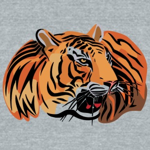 wild_tiger_head_color - Unisex Tri-Blend T-Shirt by American Apparel