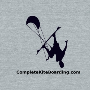 COMPLETE_KITE_BOARDING_kiter_b_and_w_gif - Unisex Tri-Blend T-Shirt by American Apparel