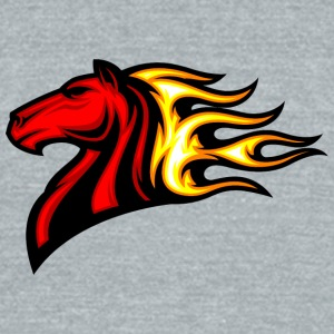red_horse_in_fire - Unisex Tri-Blend T-Shirt by American Apparel